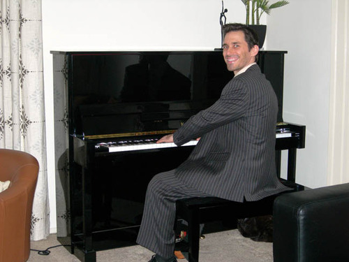 Rob at piano